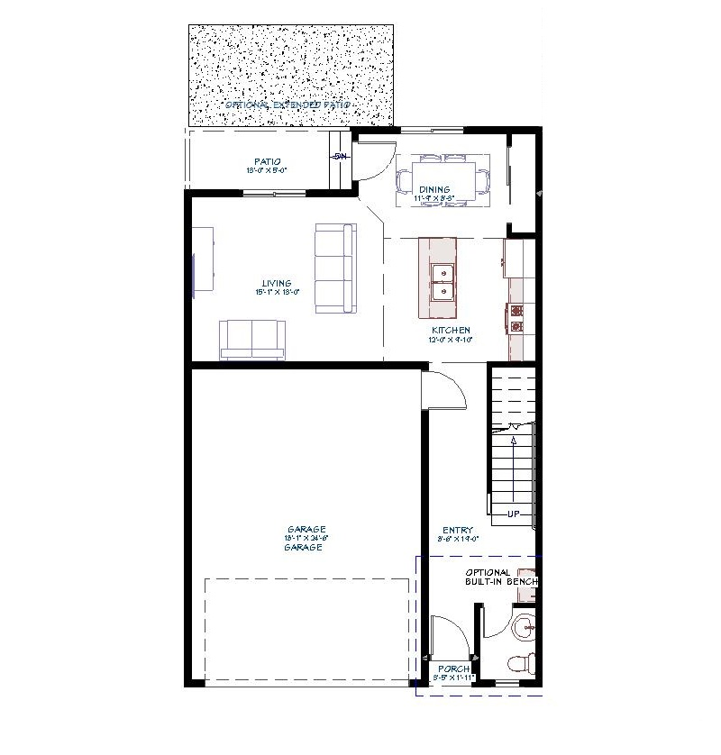Main Level Floorplan